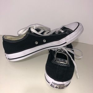 Converse black and white shoes, size 9 in women's